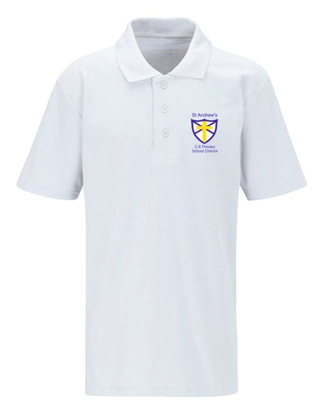 Image of St Andrews CE Polo Shirt White