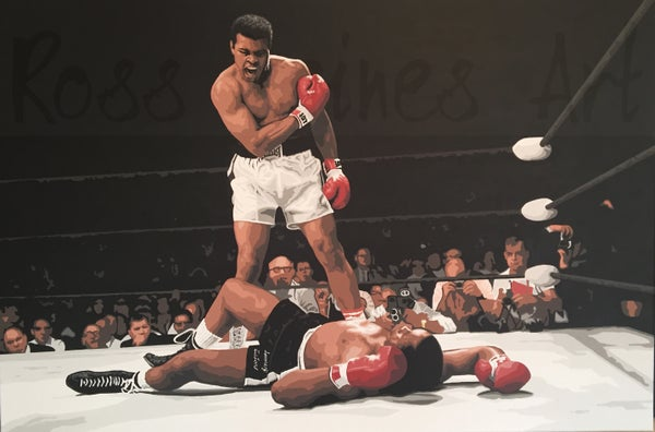 Image of ALI v LISTON (3x2ft canvas print)