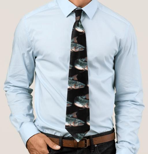 Image of Black Salmon Tie
