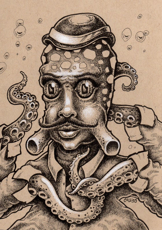 Image of Innsmouth Denizen 5 - original art