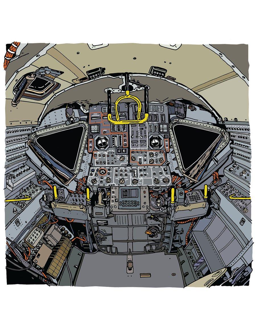 Image of Lunar Excursion Module print