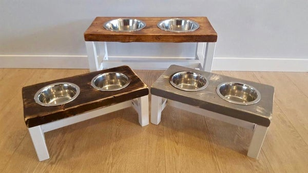 Image of Farmhouse Raised Dog Bowl Feeder