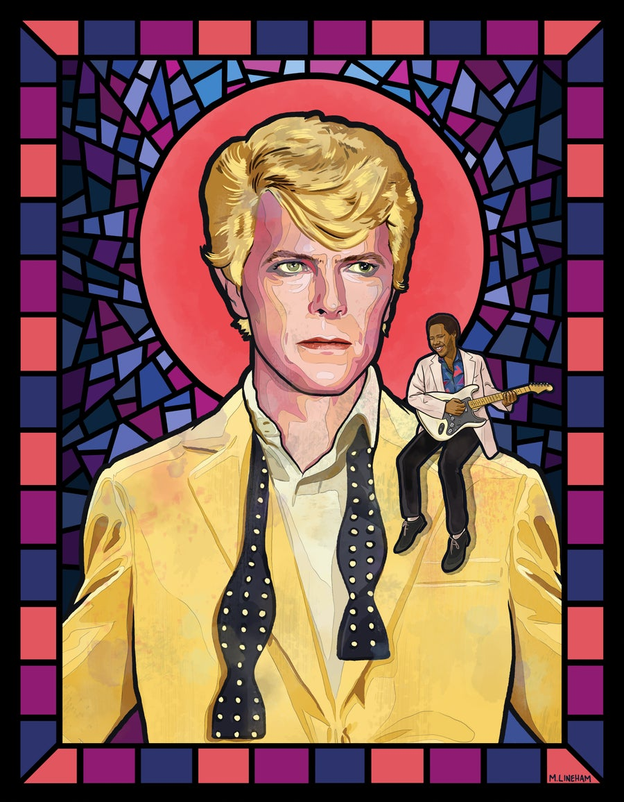 "Image of Saint David Bowie (""Let's Dance"" Era)"