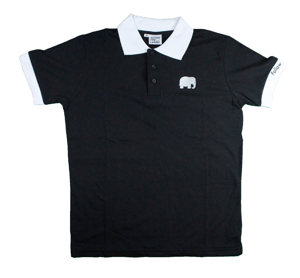 Image of Elephant Polo Short Sleeve (Black)