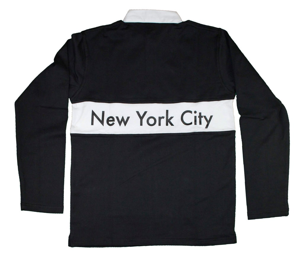 Image of FTL NYC Long Sleeve Rugby (Black)