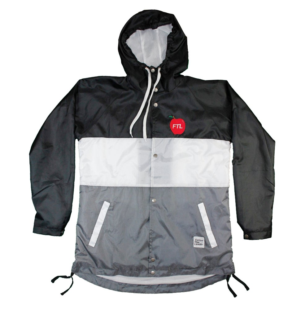 Image of Big Apple Hooded Windbreaker Jacket