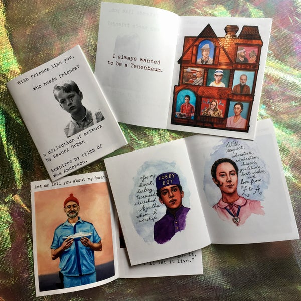 "Image of ""With friends like you, who needs friends?"" Wes Anderson zine"