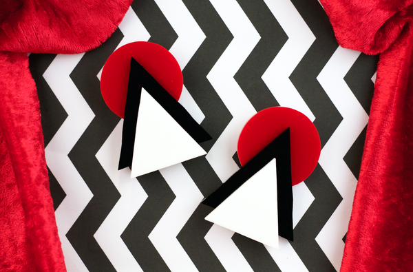 Twin Peaks Chevron Earrings  - Black Heart Creatives