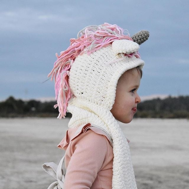 Image of Crochet Unicorn Scarf