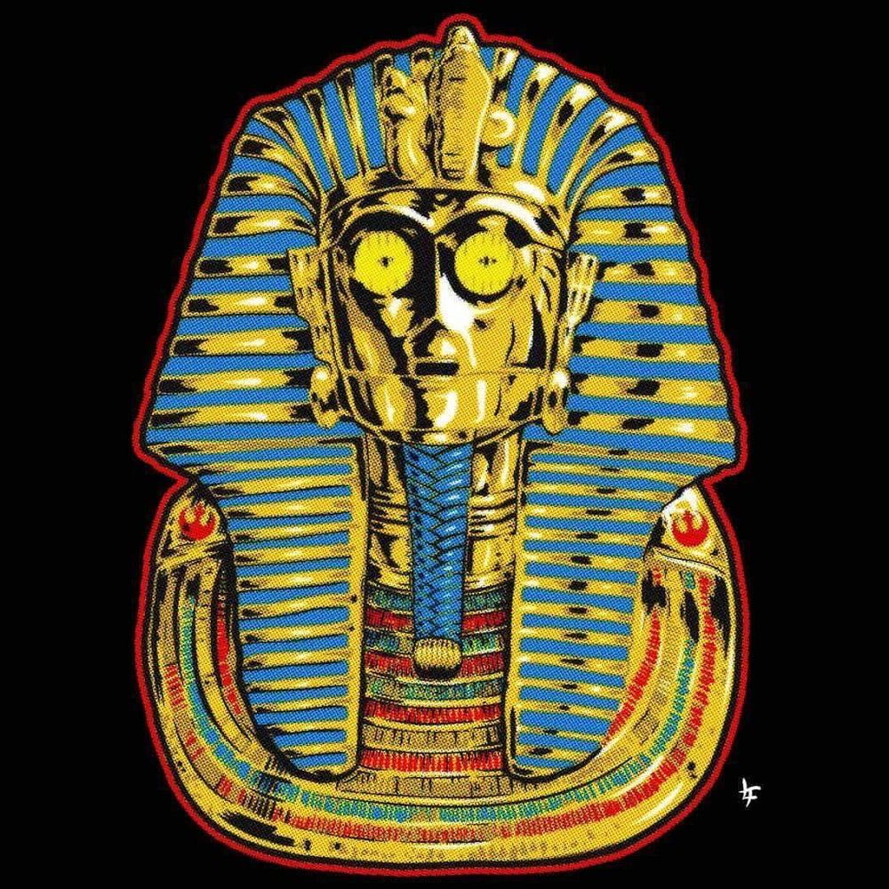 Image of Tut-3P0 Gold Pin Badge