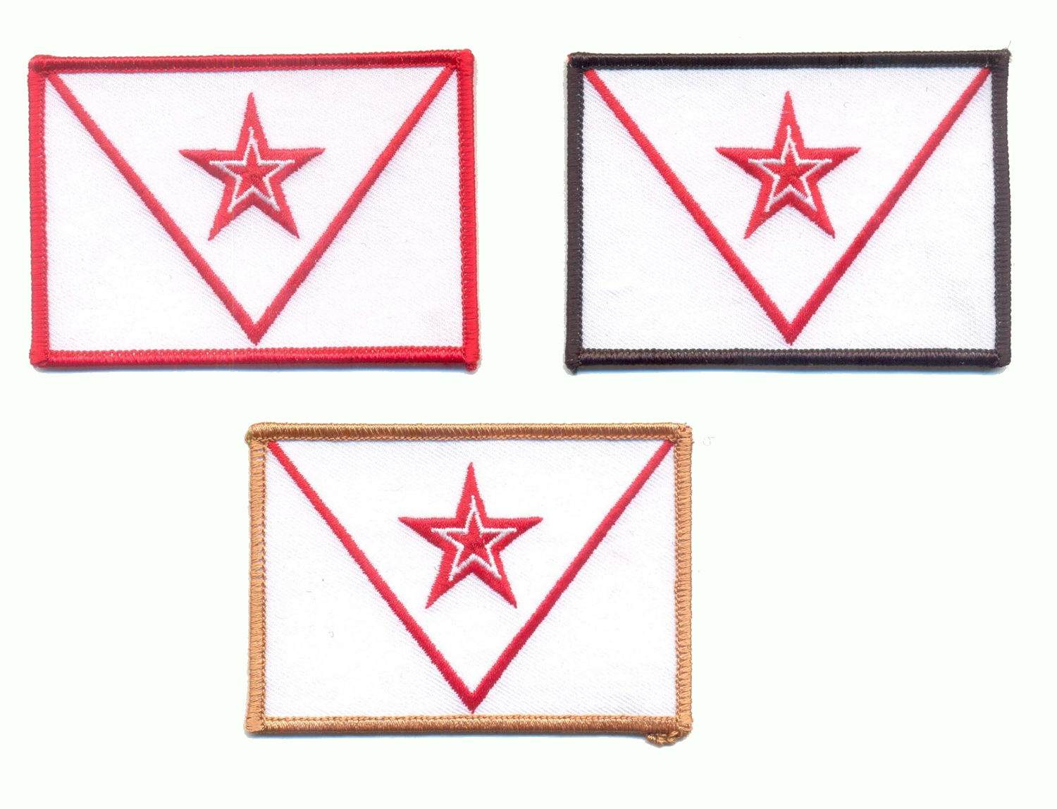 Image of Red Steel Collar Insignia