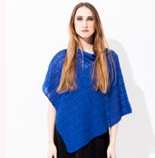 Image of Laceknitted poncho    Electric Blue