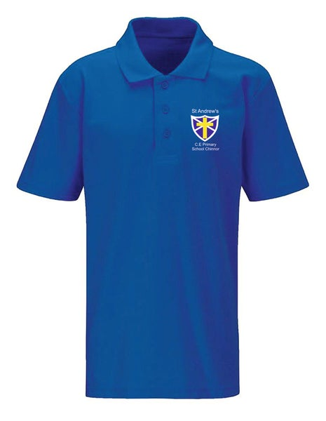Image of St Andrews CE Polo Shirt Royal Blue