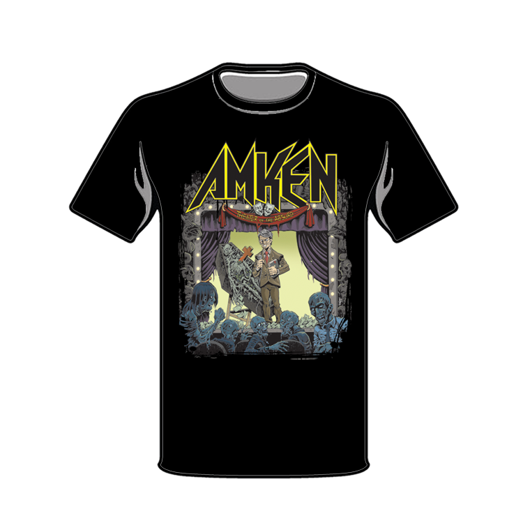 "Image of AMKEN ""THEATER OF THE ABSURD"" Black T-shirt"