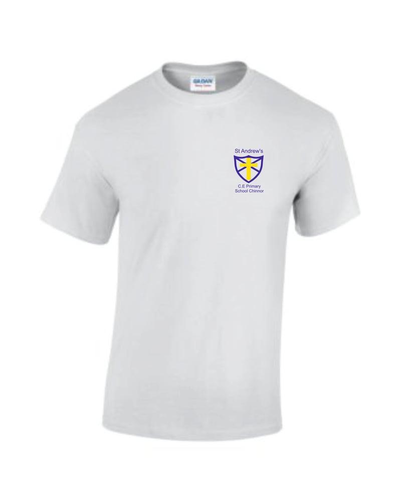 Image of St Andrews CE P.E T-Shirt White