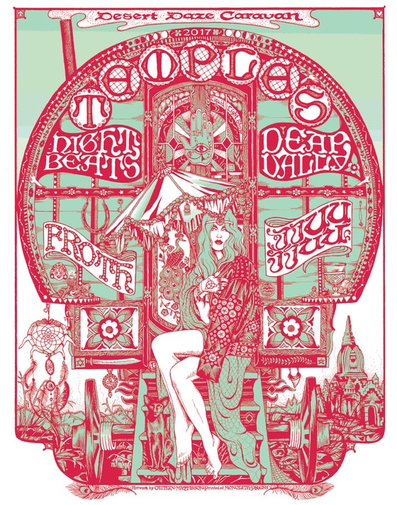 Image of Desert Daze Caravan Tour Poster by Caitlin Mattisson