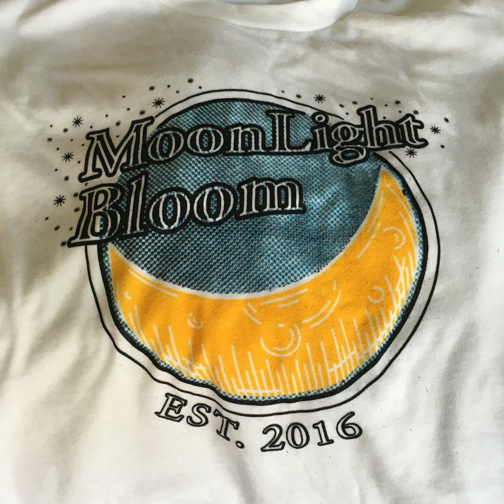 Image of Moonlight Bloom T-Shirt (1st Gen) - White with Colored Print