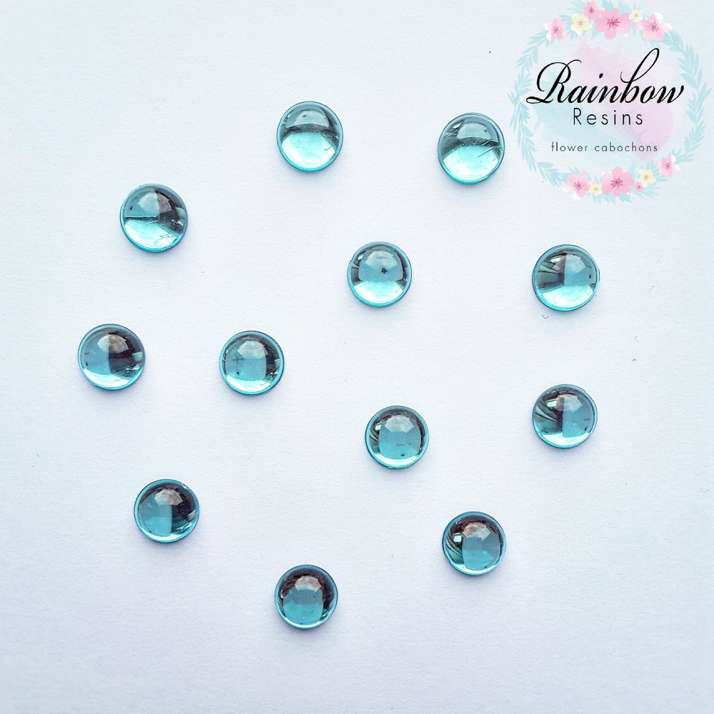 Image of Baby blue 12mm flatback crystals x 20