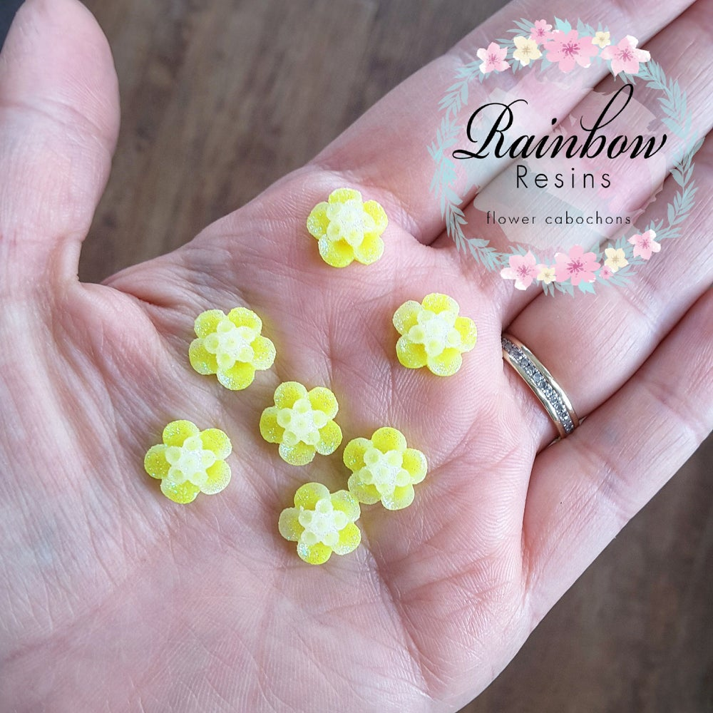Image of Sparkly yellow blossoms x 10