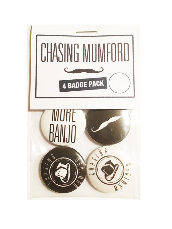Image of 4 BUTTON BADGE PACK