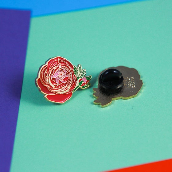 Image of Ranunculus Flower Enamel Pin