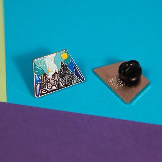 Image of Liberty Bell Mountain Enamel Pin