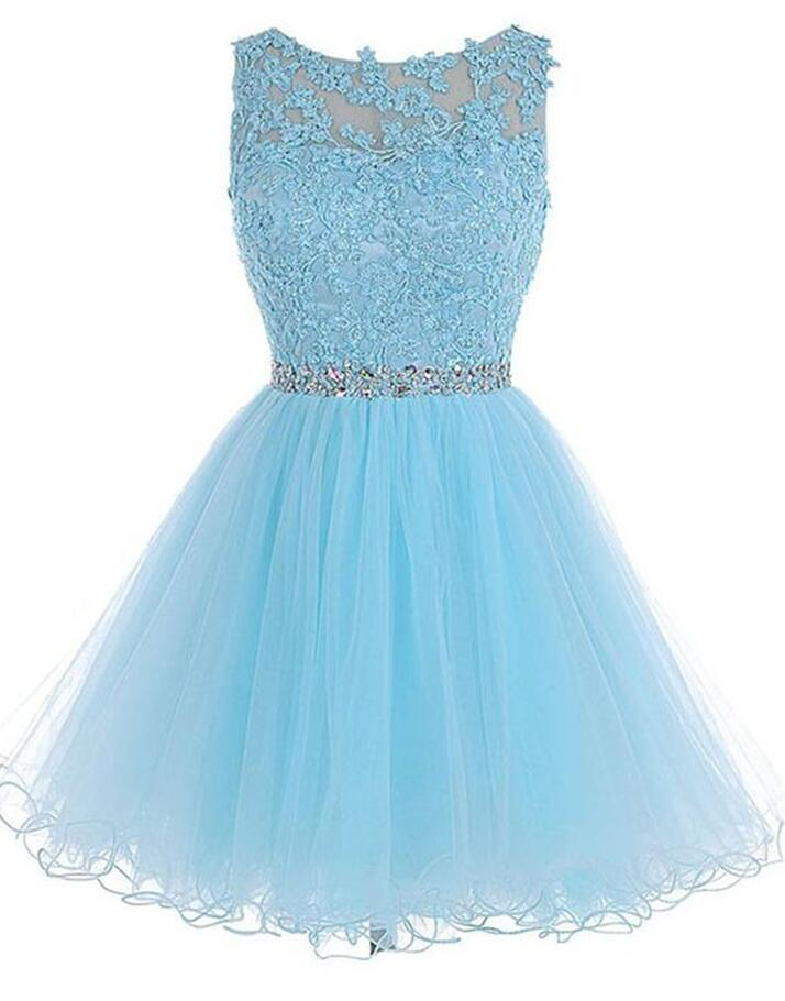 Cute Light Blue Homecoming Dresses, Homecoming Dresses 2017, Short Prom Dress