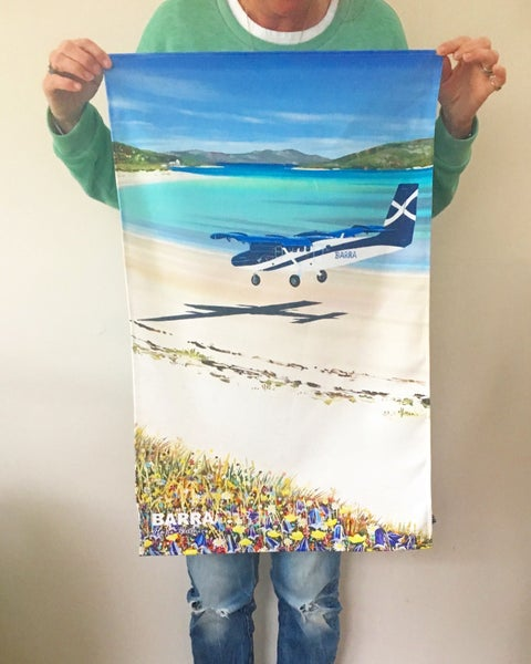 Image of BARRA AIRPORT TEA TOWEL