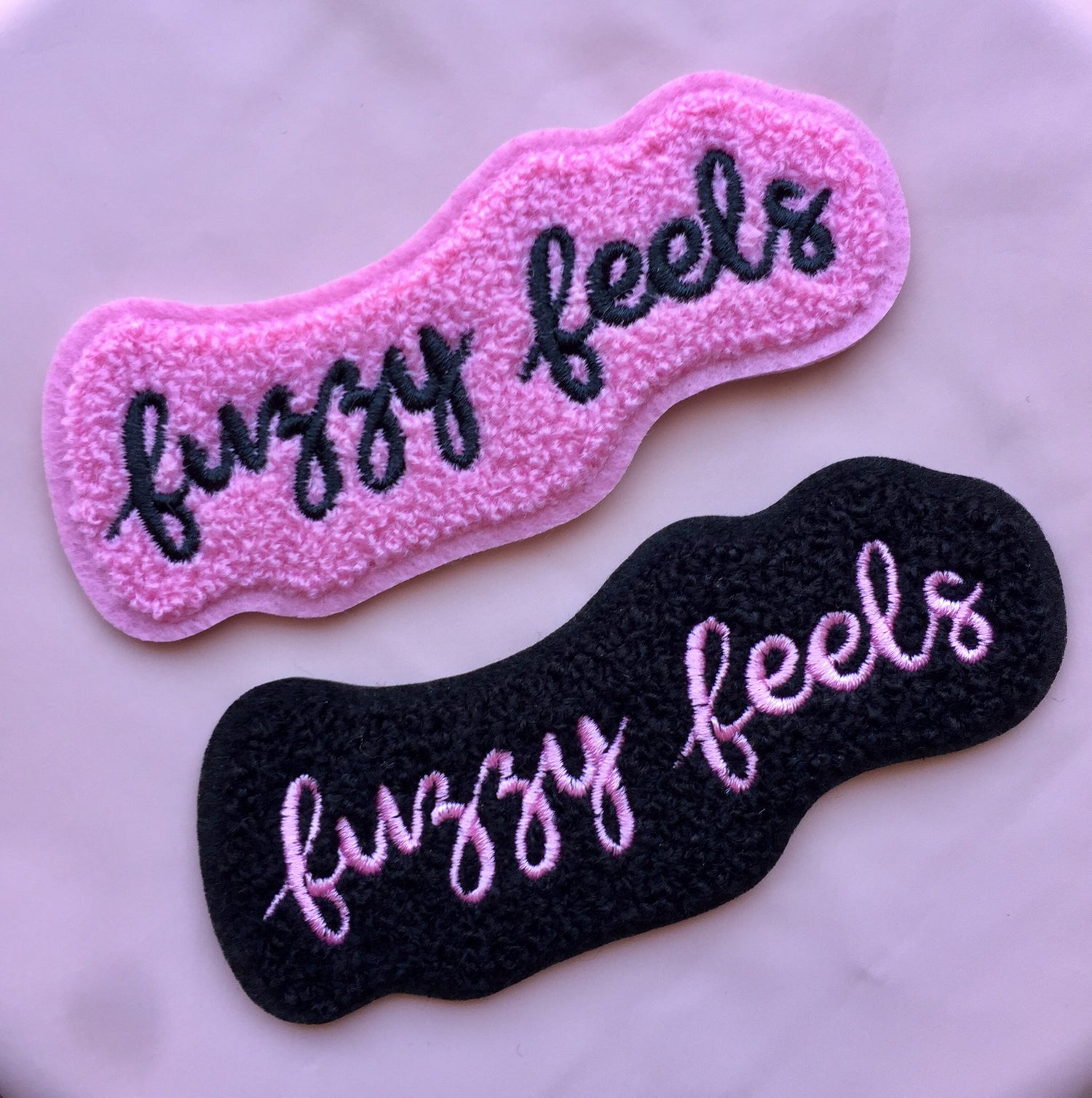 Image of Fuzzy Feels Chenille Patch - 2 variants!
