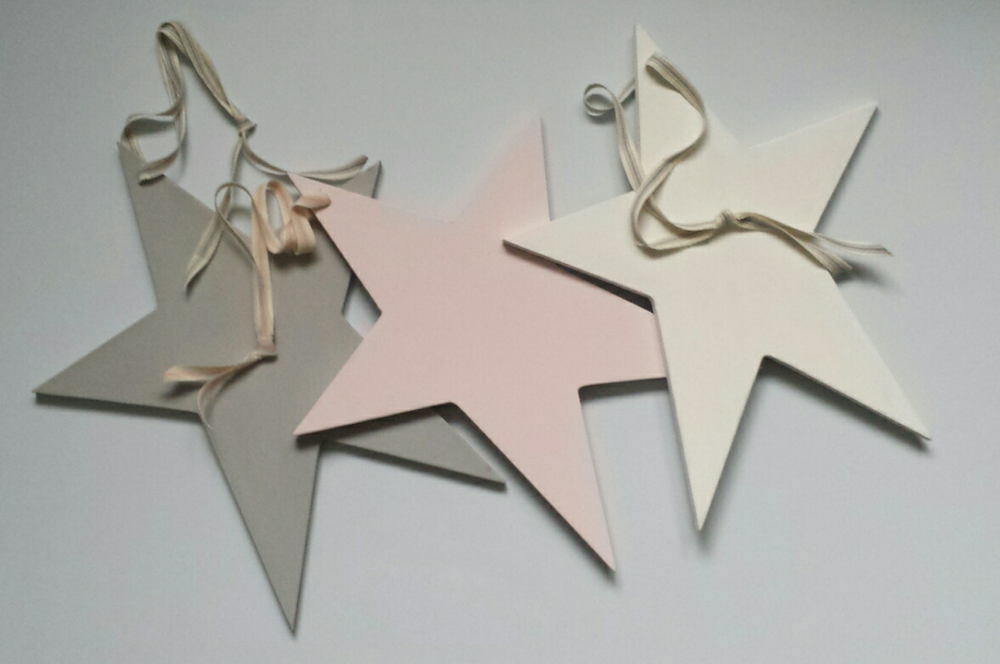 Image Of Rustic Painted Wooden Star