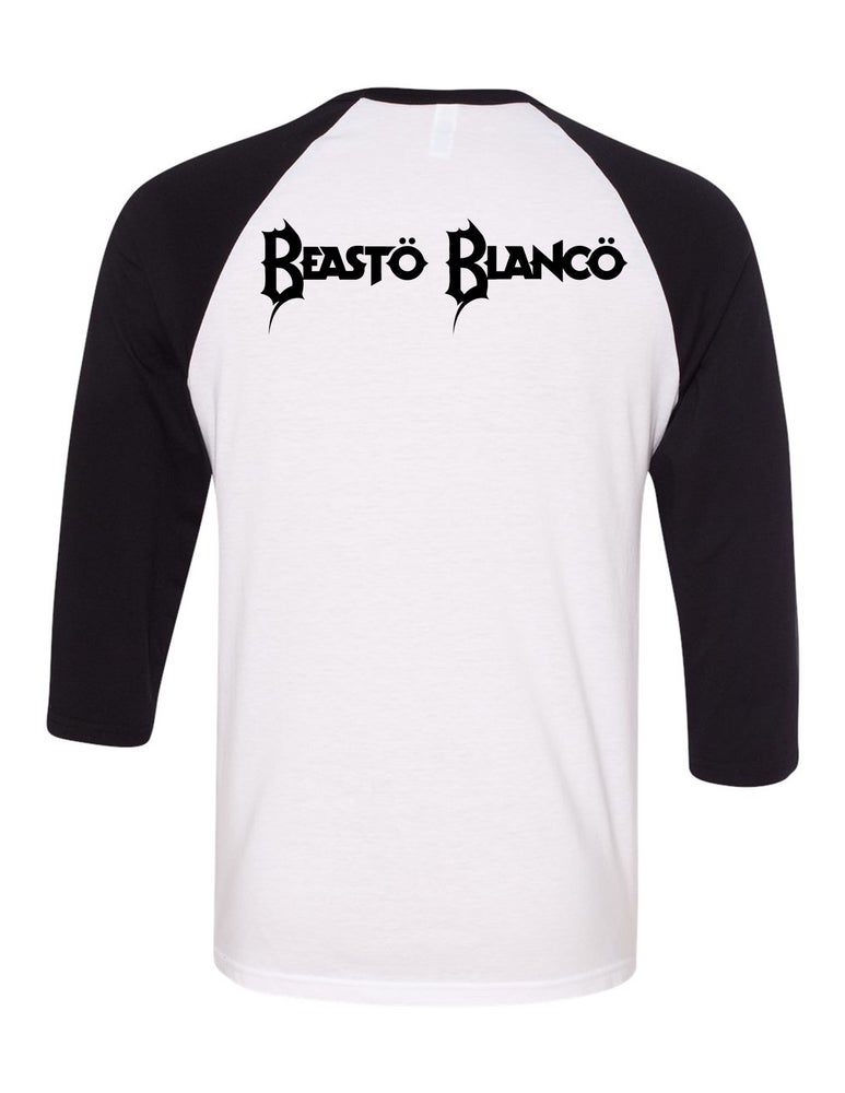 "Image of OFFICIAL - BEASTO BLANCO - MASK ""BEASTO"" 3/4 SLEEVE SHIRT"