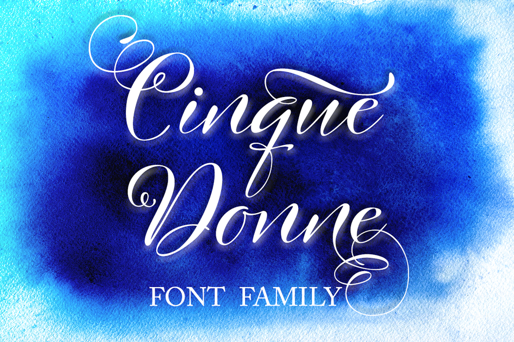 Image of Cinque Donne Font Family