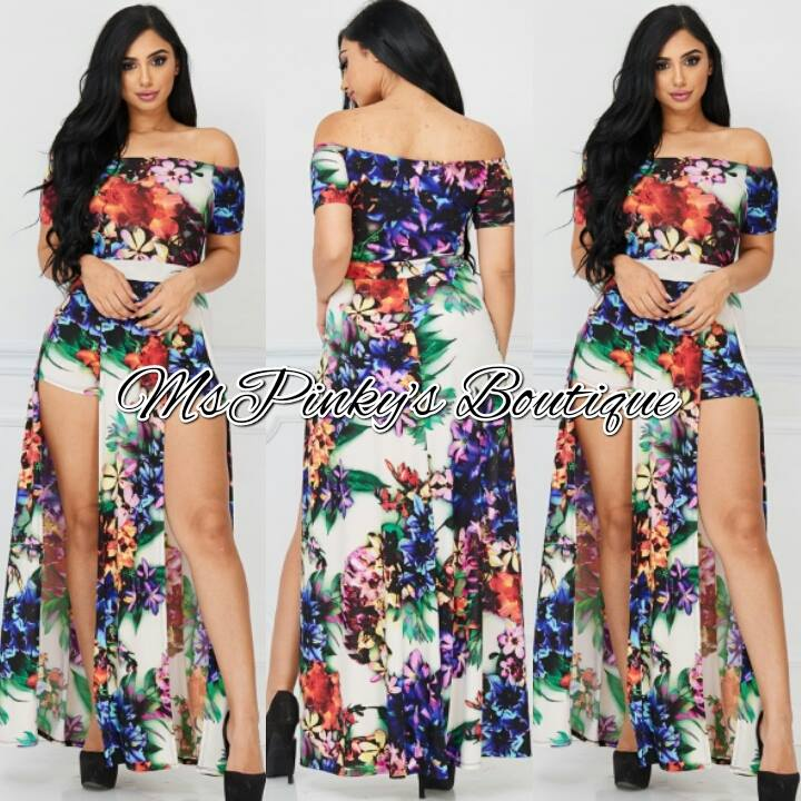 efdcbe02db8c Welcome to MsPinky s Boutique Online — Ivory Navy Floral Maxi Romper