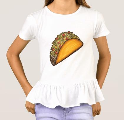 Image of Girls Taco Ruffle Shirt