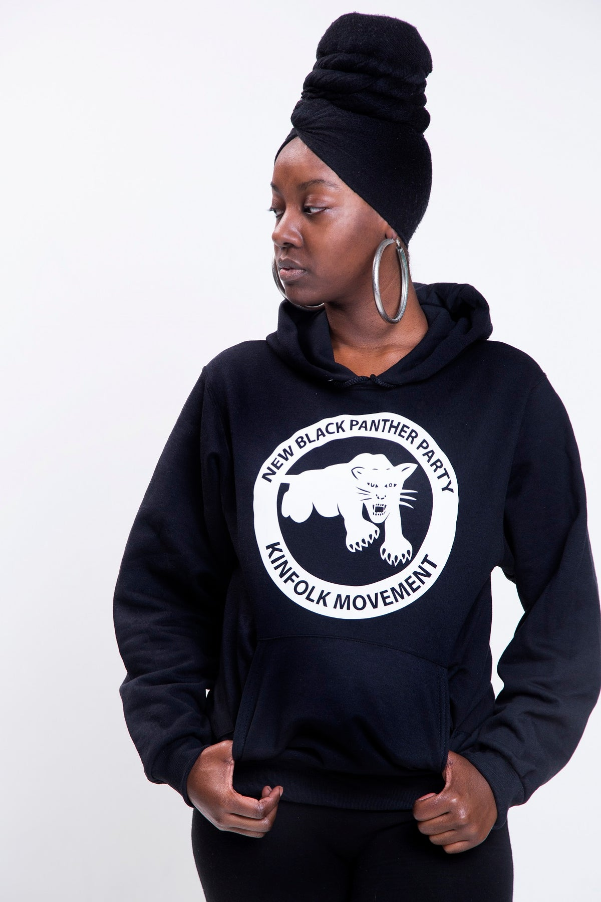 Image of Black New Black Panther Party Kinfolk Movement Hoodie (Unisex)