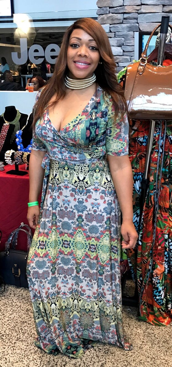 Image of Floral Print Maxi