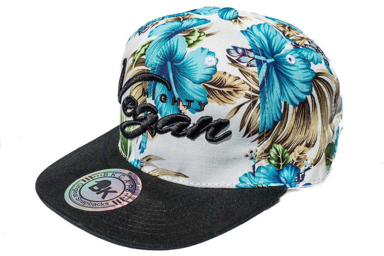 Image of MVA BLUE HAWAIIAN FLORAL 3D SNAPBACK HAT