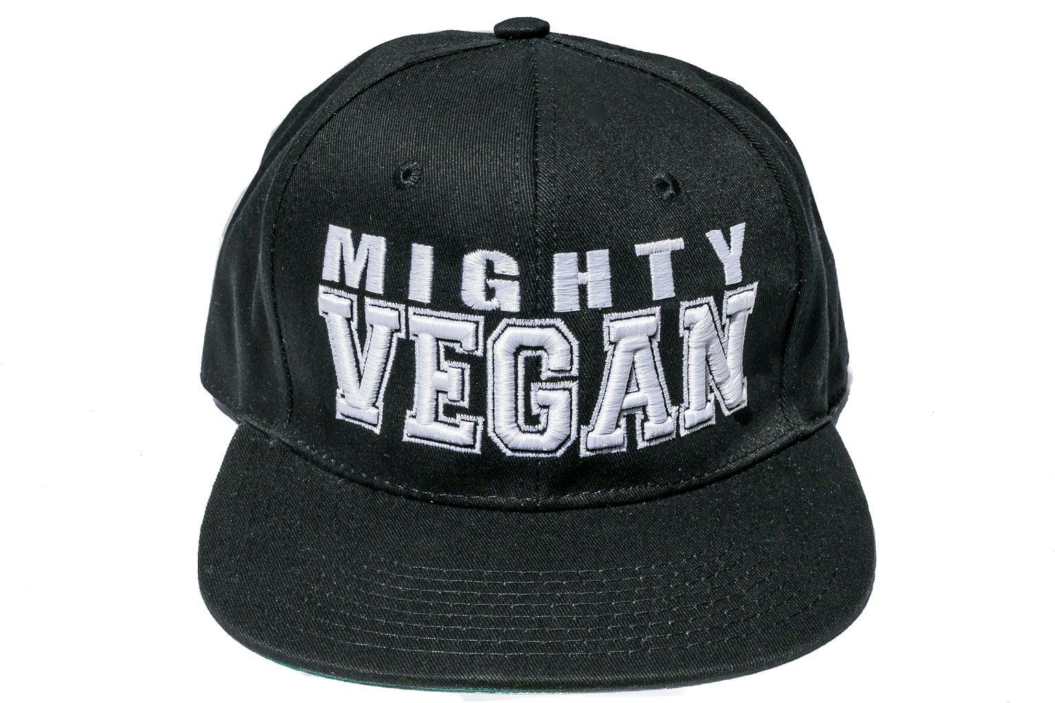 1e715b5f50b Mighty Vegan Apparel — WHITE 3D EMBROIDERY BOLD FONT SNAPBACK HAT
