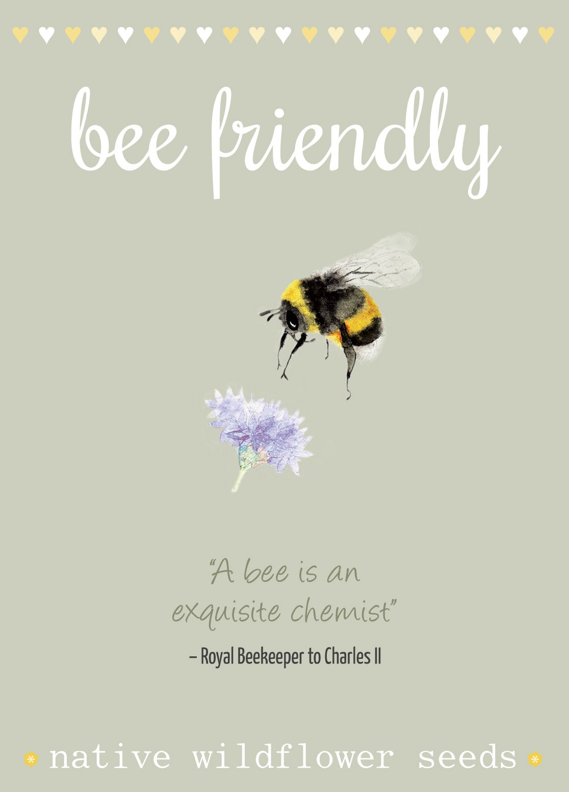 Image of Bee Friendly Seeds with Bee Quote (£2.70 including VAT)