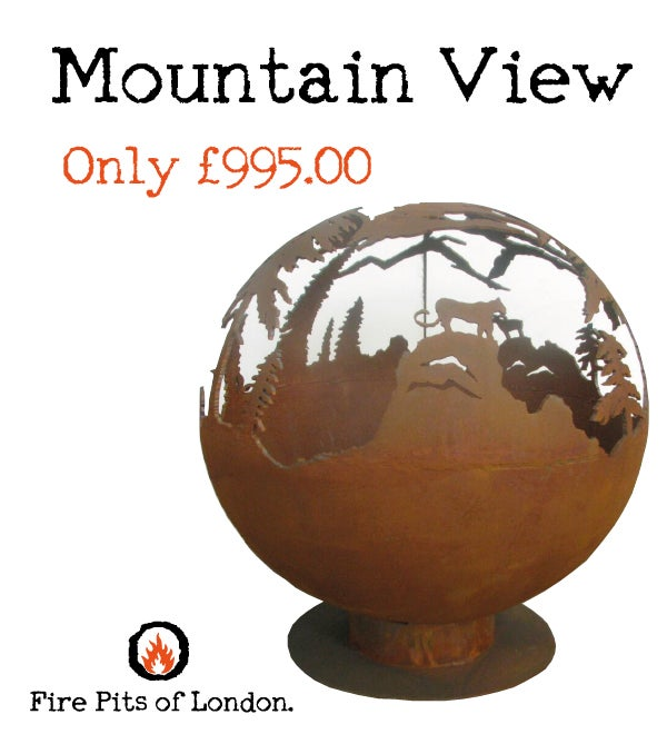 Image of MOUNTAIN VIEW – FIRE PIT GLOBE
