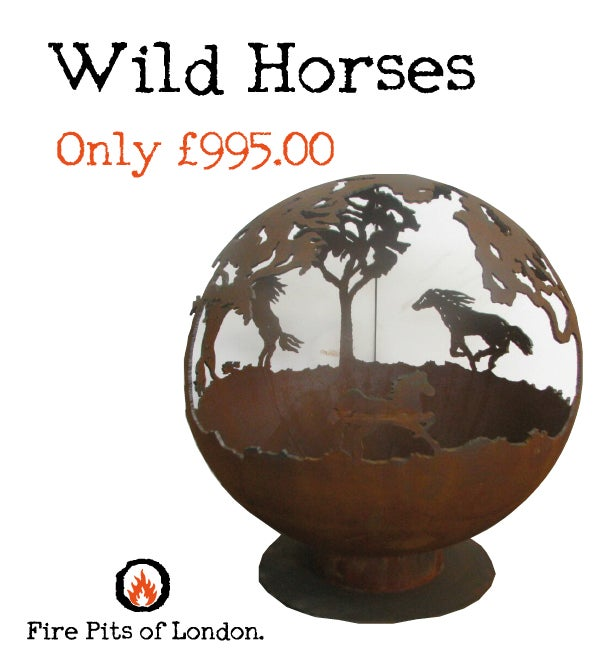Image of WILD HORSES – FIRE PIT GLOBE