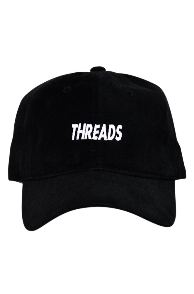 Image of THREADS Dad Hat - Black/White