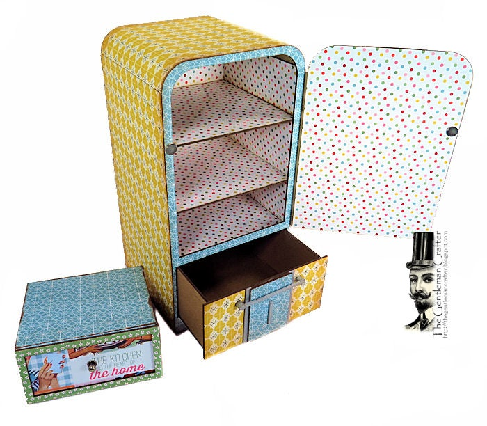 Image of The Retro Fridge Kit NO Paper and Instant Download Tutorial