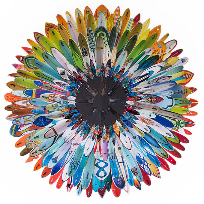 Image of Large Surf Flower Print