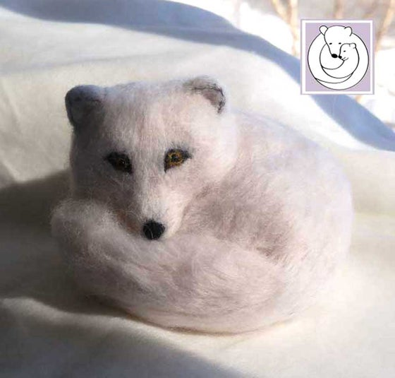 Image of Arctic Fox, Needle Felted