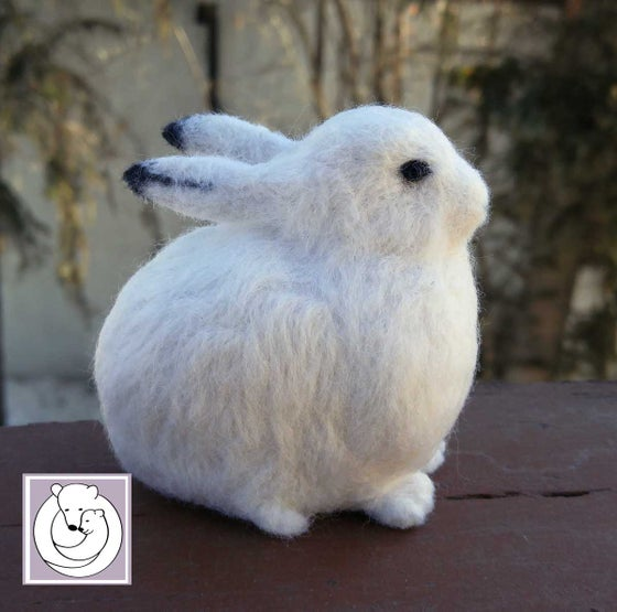 Image of Arctic Hare, Needle Felted