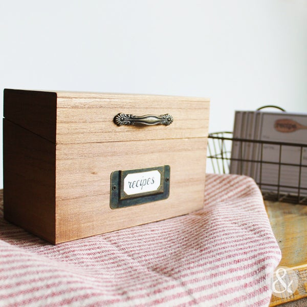Image of Recipe Card Box