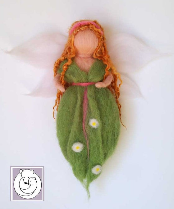 Image of Waldorf inspired Fairy, Green