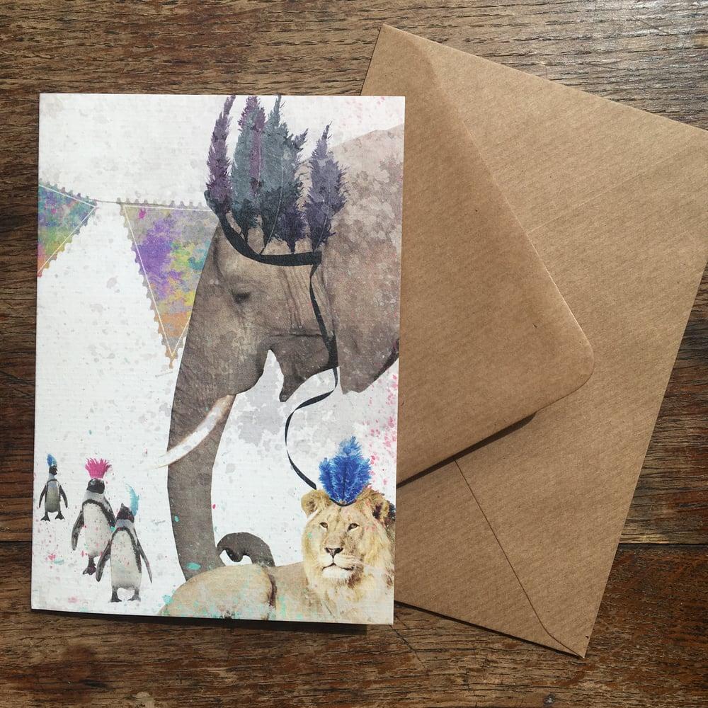 Image of Safari Party card