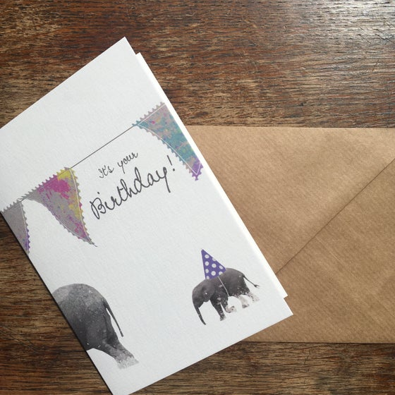 Image of Elephant Party Card